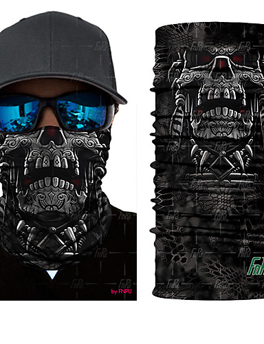 cheap Cycling Clothing-Pollution Protection Mask Quick Dry Ultraviolet Resistant Limits Bacteria Bike / Cycling Grey Dark Gray Rainbow Polyester for Men's Women's Adults' Road Cycling Hiking Cycling / Bike Trail Cool Skulls