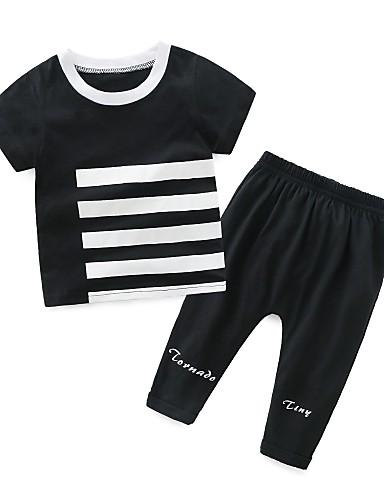 Dziecko Dla chłopców Prążki Krótki rękaw Komplet odzieży
