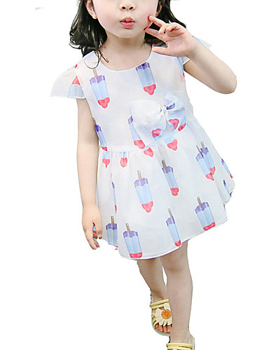 Brzdąc Dla dziewczynek Geometryczny Krótki rękaw Sukienka