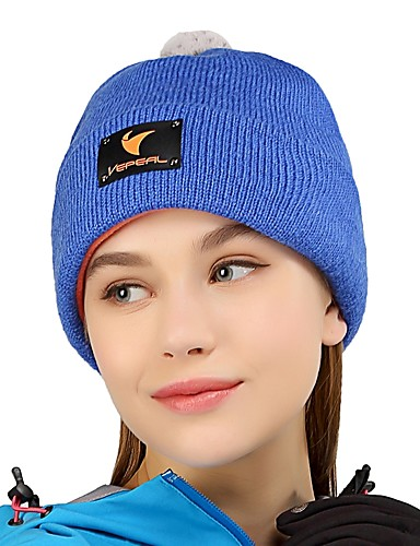 cheap Outdoor Clothing-VEPEAL Hiking Cap Skull Cap Beanie Warm Stretchy Thick Solid Colored Fashion Wool Acrylic Autumn / Fall for Women's Ski / Snowboard Hiking Traveling Rose Red / Mohair / Winter