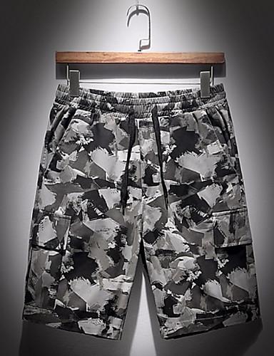 Korte Broek Legerprint Heren.Heren Militair Shorts Broek Camouflage Grijs 6743575 2019 20 29