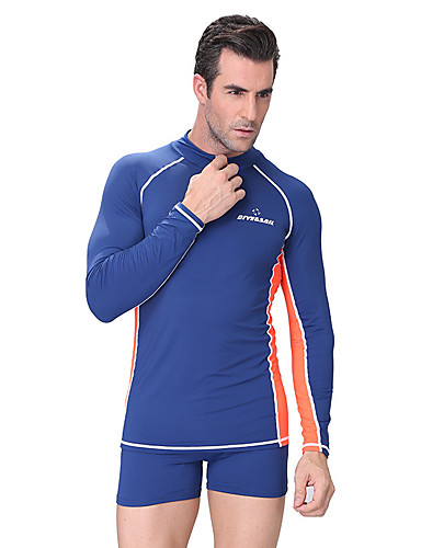 224c768cbfa Dive Sail Men s Diving Rash Guard Thermal   Warm SPF50 UV Sun Protection  Tactel Elastane Lycra Long Sleeve Swimwear Beach Wear Sun Shirt Top Swimming  Diving ...
