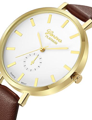 cdfccf899 Geneva Dámské Hodinky k šatům Náramkové hodinky zlaté hodinky Křemenný Kůže  Hnědá Nový design Hodinky na
