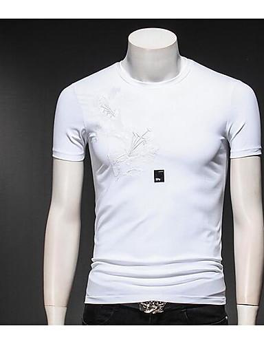 Bărbați Tricou Vintage - Mată Plisată