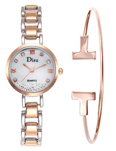 Mujer Reloj de Vestir Reloj Pulsera Cuarzo Acero Inoxidable Plata 50 m  Cronógrafo Creativo Nuevo diseño 81307da0608e