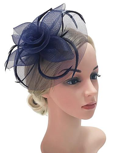cheap Women's Headpieces-Women's Kentucky Derby Vintage Elegant Fabric Cubic Zirconia Head Jewelry Barrettes-Solid Colored / Wedding / All Seasons