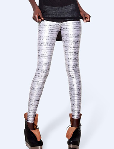 Pentru femei Zilnic Sport Legging - Dungi / Geometric / Bloc Culoare Talie medie