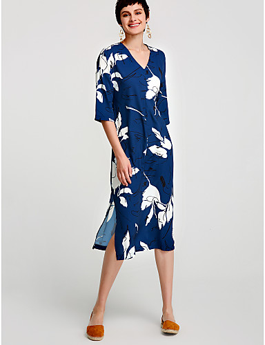 d4c0ca81cd58 Γυναικεία Βαμβάκι Τουνίκ Φόρεμα - Φλοράλ