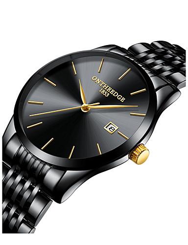 Bărbați Ceas de Mână Japoneză Quartz Japonez 30 m Cronograf Creative Model nou Oțel inoxidabil Bandă Analog - Digital Modă Elegant Negru / Argint / Auriu - Negru / Albastru Aur / alb Argintiu / Un an