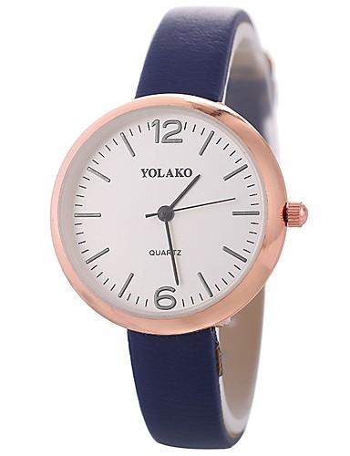 Xu™ Pentru femei femei Ceas de Mână Quartz Creative Ceas Casual Mare Dial PU Bandă Analog Modă minimalist Negru / Alb / Albastru - Rosu Albastru Roz Un an Durată de Viaţă Baterie