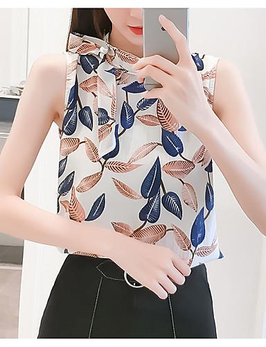 Pentru femei Halter Bluză Concediu Floral