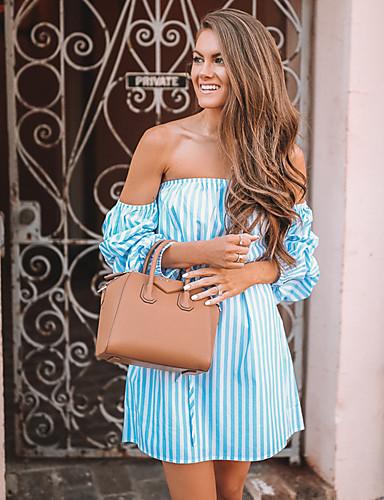 Per Donna Taglia Piccola Linea A Vestito Senza Bretelline Sopra Il Ginocchio - Sexy #06753284