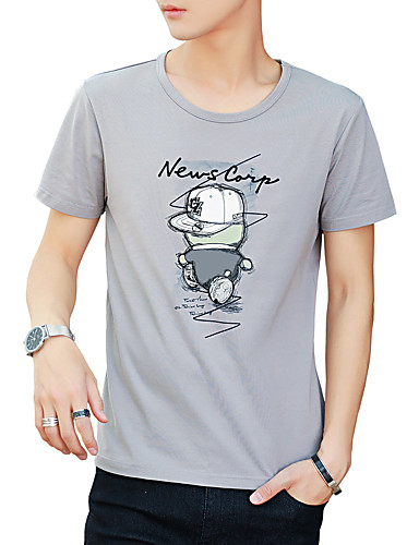 Bărbați Tricou Activ / De Bază - Mată / Scrisă Imprimeu