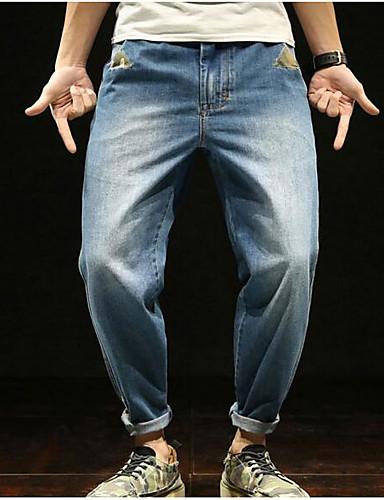 Bărbați Vintage Blugi Pantaloni Mată