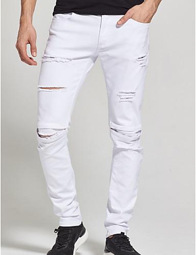 Herr Bomull Jeans Byxor - Enfärgad Vit 6834040 2019 –  25.75 c4ffcf382e77e