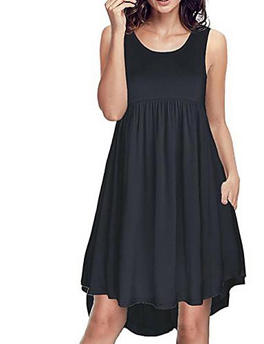 7104caacf58d Γυναικεία Κομψό στυλ street Κομψό Λεπτό T Shirt Φόρεμα - Μονόχρωμο Πάνω από  το Γόνατο   Sexy