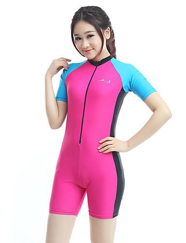 8e39a25b9d Bluedive Women's Rash Guard Dive Skin Suit Diving Suit SPF50 UV Sun  Protection Quick Dry Short Sleeve Front Zip Boyleg - Swimming Diving  Surfing Patchwork ...
