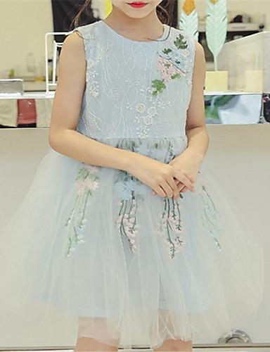 Djeca Djevojčice Osnovni Jednobojni Kratkih rukava Haljina Blushing Pink 140