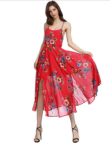 Žene Izlasci Slim Korice Haljina S naramenicama Maxi Visoki struk