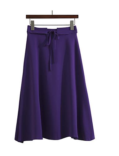 Žene A kroj Suknje - Jednobojni Visoki struk