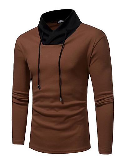 Majica s rukavima Muškarci - Osnovni Dnevno Jednobojni S kapuljačom / Dugih rukava
