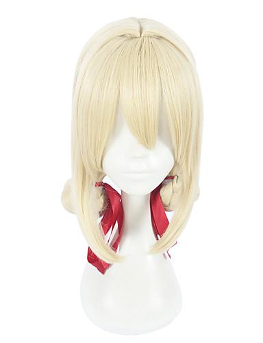 voordelige Cosplay Pruiken-Cosplay Violet Evergarden Cosplaypruiken Allemaal 18 inch(es) Hittebestendige vezel Blond Anime