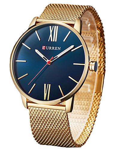 e7b6977b6fce Hombre Reloj de Pulsera Cuarzo Acero Inoxidable Negro   Plata   Dorado  Cronógrafo Reloj Casual Cool
