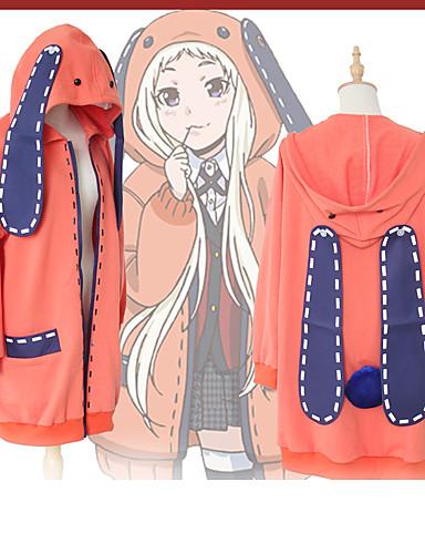 povoljno Anime kostimi-Inspirirana Kakegurui Cookie Anime Anime Cosplay nošnje Japanski cosplay Hoodies Anime / Pismo i broj Dugih rukava Kaput Za Žene