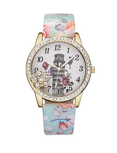 Dámské Náramkové hodinky Křemenný Kůže Černá   Modrá   Červená Hodinky na  běžné nošení Analogové dámy 78bdcc89c0