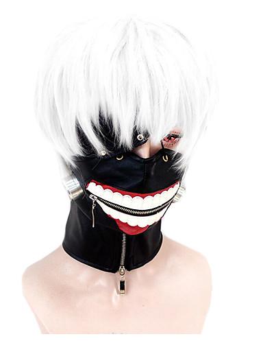 voordelige Cosplay Pruiken-Tokyo Ghoul Ken Kaneki Cosplaypruiken Heren 11.8 inch(es) Hittebestendige vezel Wit Anime