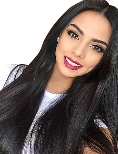 abordables Perruques Naturelles Dentelle-Perruque Cheveux Naturel humain Lace Frontale Cheveux Brésiliens Cheveux Birmans Droit Naturel Nature Noir Femme Densité 130% avec des cheveux de bébé Homme Faciliter l'habillage Meilleure qualit