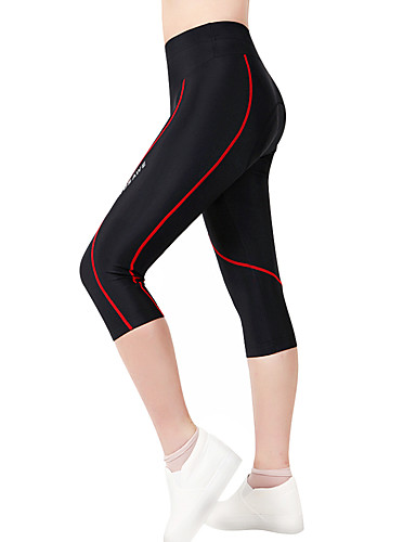 cheap Cycling Clothing-WOSAWE Women's Unisex Cycling Padded Shorts Bike Shorts 3/4 Tights Pants Breathable 3D Pad Quick Dry Sports Polyester Spandex Red black Mountain Bike MTB Road Bike Cycling Clothing Apparel Advanced