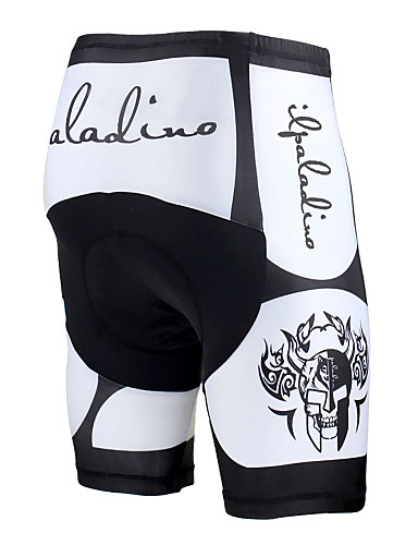 cheap Cycling Clothing-ILPALADINO Men's Unisex Cycling Padded Shorts Bike Pants / Trousers Pants Windproof Breathable 3D Pad Sports Skull Lycra Winter White / Black Road Bike Cycling Clothing Apparel Relaxed Fit Bike Wear