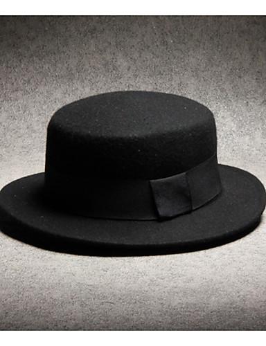 f440227af3729 Men s Polyester Fedora Hat-Solid Colored Black