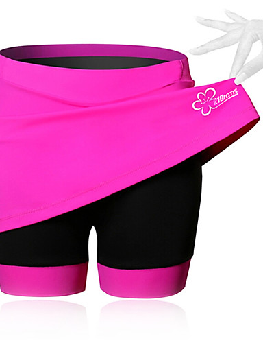 cheap Cycling-SPAKCT Women's Cycling Skirt Bike Shorts / Skirt / Padded Shorts / Chamois Breathable, 3D Pad Solid Colored, Patchwork, Classic Spandex Black / Blue / Pink Advanced Mountain Cycling Semi-Form Fit