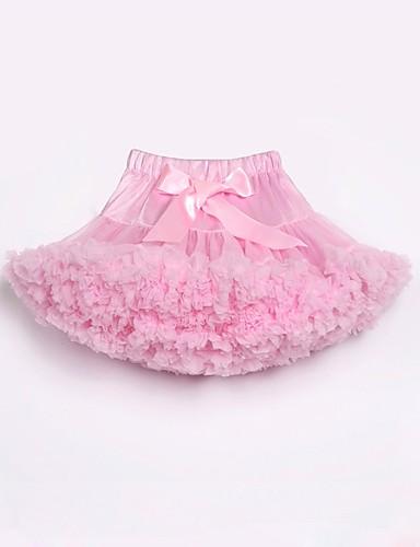 povoljno Odjeća za djevojčice-Djeca Dijete koje je tek prohodalo Djevojčice Aktivan Osnovni Praznik Kamado roštilj Color block Duga Mašna Više slojeva Drapirano Poliester Najlon Suknja Blushing Pink