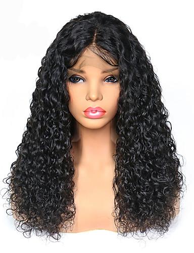 povoljno Perike s ljudskom kosom-Remy kosa Lace Front Perika Duboko udaljavanje Stražnji dio stil Brazilska kosa Kovrčav Perika 250% Gustoća kose s dječjom kosom Najbolja kvaliteta Rasprodaja Gust Žene Dug Perike s ljudskom kosom