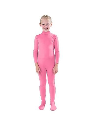 Zentai odijela Cosplay Nošnje Odijelo za kožu Dječji Spandex Lycra Cosplay Nošnje Muškarci Žene Fuschia / fluorescentno zelenu / fluorescentno narančasta Jednobojni Božić Halloween Karneval