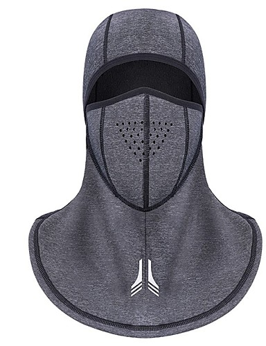 cheap Cycling Clothing-Balaclava Pollution Protection Mask Waterproof Thermal / Warm Breathable Dust Proof Reflective Strips Bike / Cycling Grey Fleece Winter for Men's Women's Adults' Ski / Snowboard Camping / Hiking