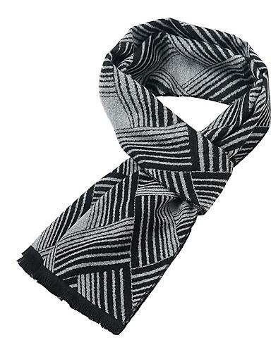 abordables Bufandas de hombres-Hombre Plisado Rectángulo A Rayas
