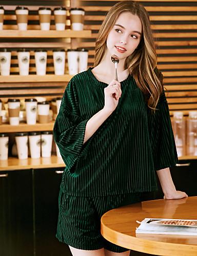 abordables Lingerie-Velours Robes de Chambre Mariage Non personnalisé Couleur Unie