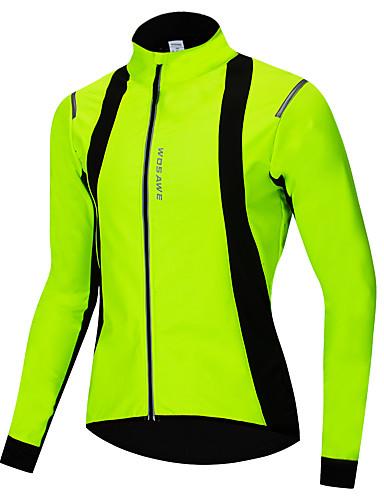 23b95438f WOSAWE Homens Mulheres Jaqueta para Ciclismo Moto Jaqueta Camisa / Roupas  Para Esporte Prova-de-Água A Prova de Vento Esportes Inverno Verde Ciclismo  de ...