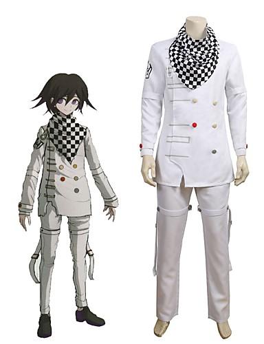 """billige Anime cosplay-Inspirert av Dangan Ronpa Cosplay / Ouma Kokichi Anime  """"Cosplay-kostymer"""" Cosplay Klær Annen Langermet Topp / Bukser / Halstørklæ Til Unisex"""