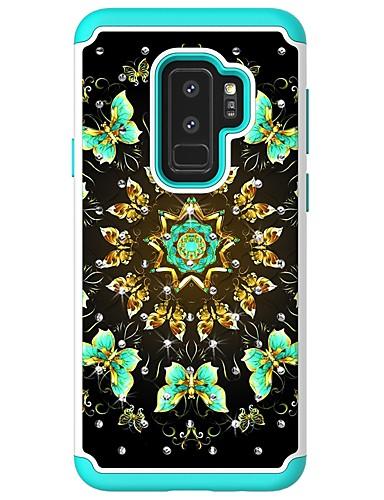 Θήκη Za Samsung Galaxy S9 / S9 Plus / S8 Plus Štras / Uzorak Stražnja maska Rukav leptir Tvrdo PU koža