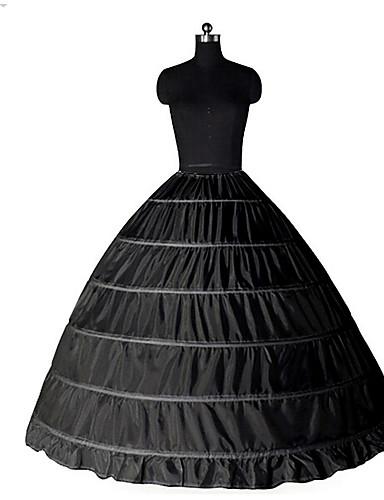 billige Cosplay og kostymer-Prinsesse Underskjørt Tutu Under skjørt Classic Lolita 1950-tallet 6 Bøyle Svart Hvit Underskjørt / crinoline