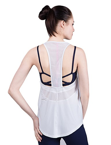 24f58ddc97b LINEBREAK Women s Racerback Strap Tank White Black Sports Solid Color Vest    Gilet Zumba Yoga Running Sleeveless Activewear Lightweight Breathable  Quick Dry ...