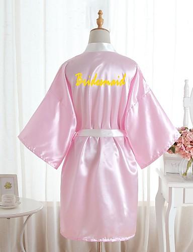 abordables Lingerie-Faux Soie Robes de Chambre Mariage Personnalisé