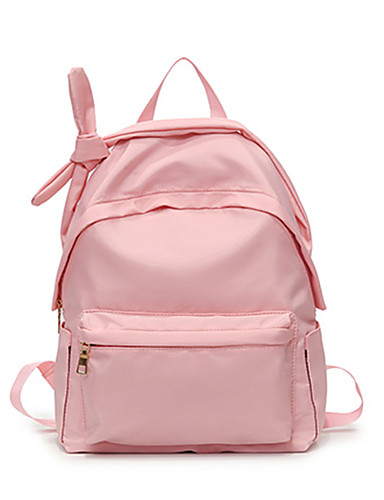 036edf85fab 여성용 지퍼 책가방 배낭 나일론 한 색상 블랙 / 블러슁 핑크 / 가을 겨울