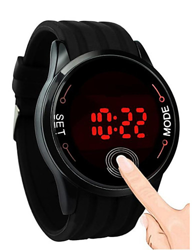 ae7cfa9fac1 Pro páry Náramkové hodinky Digitální Silikon Černá   Bílá   Modrá Kalendář  Chronograf Roztomilý Digitální Skládaný