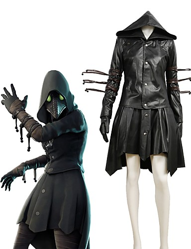 """billige Anime Kostymer-Inspirert av Cosplay Cosplay / Plague Doctor Anime  """"Cosplay-kostymer"""" Cosplay Klær Maleri / Annen Langermet Other / Frakk / Skjørte Til Damer og Herrer"""